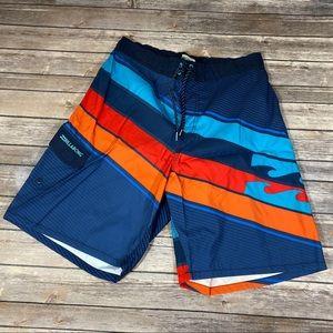 🆕Billabong Beach Shorts Blue & Red & Orange